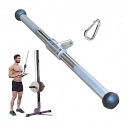 Barra Triceps Accesorios for Cables De Fitness De 50 Cm, De Alta Resistencia Sólida Barra Desplegable LAT, Mango Antideslizan