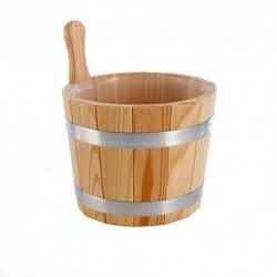 Eliga Cubo para sauna Madera de alerce sin plástico de uso