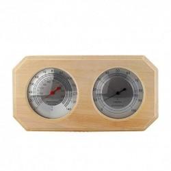 MIFXIN - Termómetro de madera para sauna, higrómetro y sauna, equipamiento y accesorios