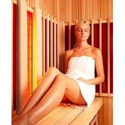 Sauna de madera maciza de 206 x 206 x 204 cm, infrarrojos con horno de sauna finlandesa
