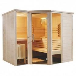 massivholzsauna esquina. 234x 206x 204infrarrojos sauna finlandesa operativos