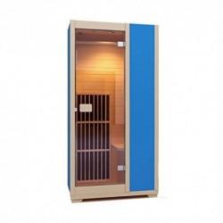 Zen Sauna de Infrarrojos Brighton – Cabina de Infrarrojos Modular, 1 Persona, Madera Hemlock Canadiense Azul