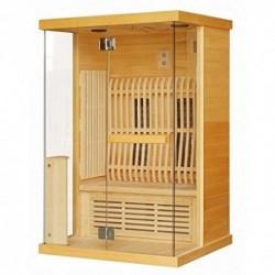Baño Italia Sauna de infrarrojos para dos personas 123,6 x 103,6 cm con cromoterapia radio conexión USB