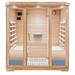 Home Deluxe Cabina de Sauna Infrarrojo Bali XL incl. Muchos Extras