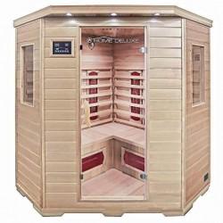 Home Deluxe Cabina de Sauna Infrarrojo Redsun XXL