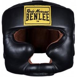 BenLee Rocky Marciano Headguard - Casco Protector para Boxeo, Color Negro Black - S-M