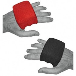 DYNAMIX ATHLETICS GEL KNUCKLE GUARDS - TOBILLERA ELÁSTICA PARA VENDAJES DE BOXEO NEGRO