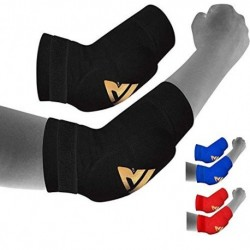 RDX - Codera para MMA, deportes de contacto, musculación o tendinitis, color negro, tamaño medium