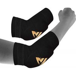 RDX - Codera para MMA, deportes de contacto, musculación o tendinitis, color negro, tamaño L