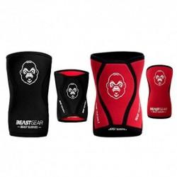 Beast Gear Rodilleras Deportivas Beast - Rodilleras Neopreno 5mm con Función Protectora y de Compresión - Ideal para Halterof