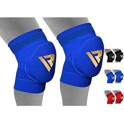 RDX Rodillera de boxeo, crossfit y artes marciales mixtas, mantiene los ligamentos de la rodilla, color azul, tamaño medium