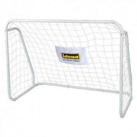 Idena-Portería de fútbol metal, aprox. 124 x 96 cm, color blanco, 77 x 28 x 7 cm Berlin 40099 , color/modelo surtido