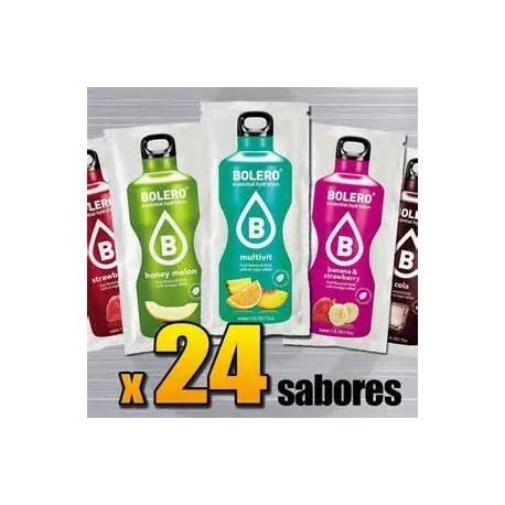 BEBIDAS BOLERO SIN AZUCAR - CAJA 24 SABORES