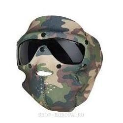 Protección de neopreo con gafas de camuflaje