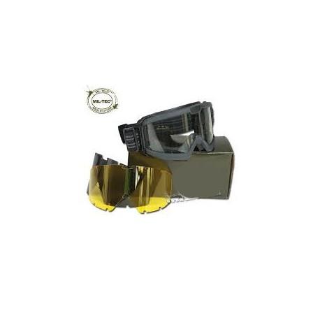 Gafas tácticas Mil-Tec ANSI EN 166 negras