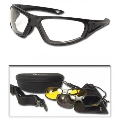 TACTICAL GOGGLE 3IN1 SCHWARZ