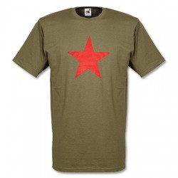 Camiseta RED STAR verde oliva
