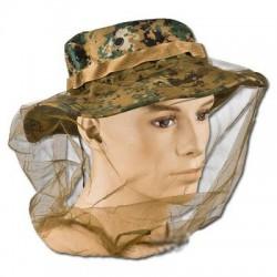 Mosquitera para sombrero anti mosquitos