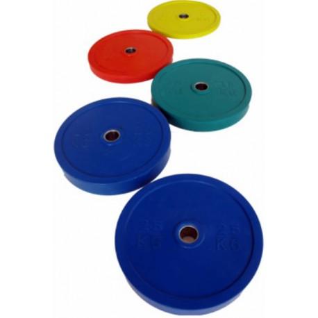 discos bumper para el entrenamiento crossfit