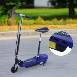 Patinete Eléctrico Plegable con Luz LED - Color Azu...
