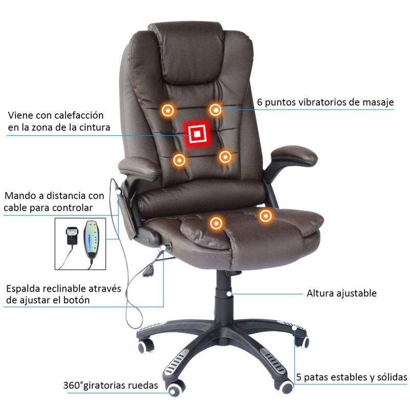 Silla de oficina y escritorio tipo sill n giratorio - Silla oficina reclinable ...