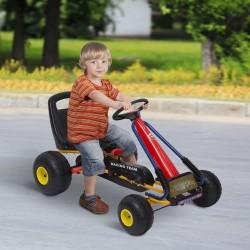 Go Kart Coche para Niños 3-8 Años con Asiento Ajust...