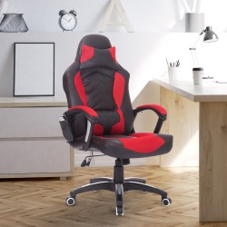 Silla de Oficina Gaming Reclinable y Giratoria con ...