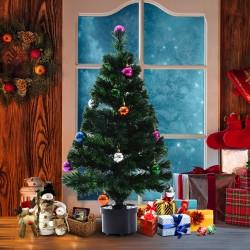 Árbol de Navidad Artificial de Fibra Óptica con Mac...
