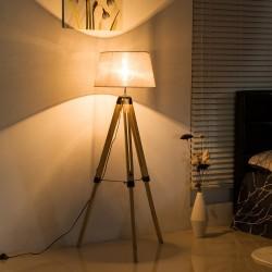 Lámpara de Pie Moderna con Trípode Altura Ajustable...
