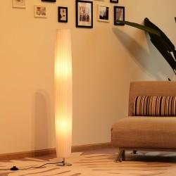 Lámpara de Pie Moderna con 2 Luces E27 40W y Pulsad...