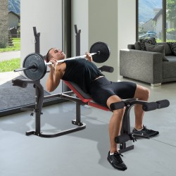 Banco de Musculación con Respaldo Ajustable Carga 1...