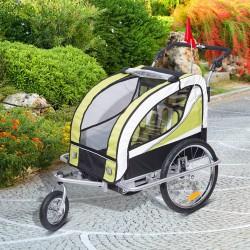 Remolque para Bicicleta tipo Carro con Barra de Pas...