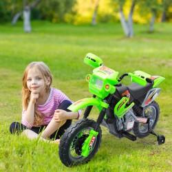 Moto Eléctrica Infantil de Bateria con Ruedas de Ap...