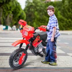 Moto Eléctrica Infantil de Bateria con Ruedas de Apo...