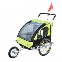 Remolque de Bicicleta para Niños con 2 Plazas - Col...