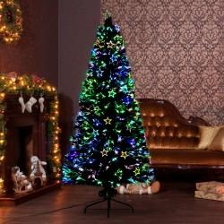 Árbol de Navidad Verde Φ80x180cm Árbol de Fibra Ópt...