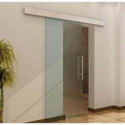 Puerta Corredera de Vidrio Cristal Translúcido o Sa...