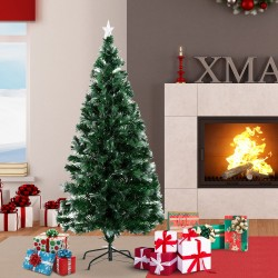 Arbol de Navidad Verde Φ74x150cm + Luces LED Arbol ...