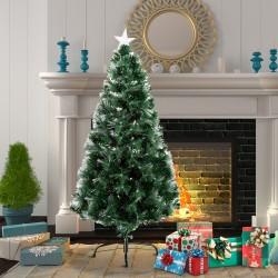 Arbol de Navidad Altura 120 cm + Estrella y Fibra O...