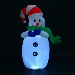 Muñeco de Nieve Inflable 55x45x120cm Luces Navidad L...