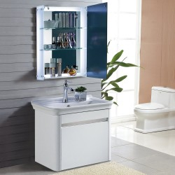 Armario de Baño con Espejo y luz LED tipo Mueble Bot...