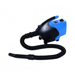 Secador para Mascotas Azul y Negro ABS Φ26x40cm...