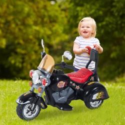Moto Eléctrica Infantil de Batería para Niño - Negr...