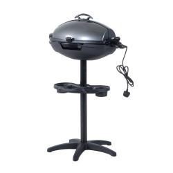 Barbacoa Grill Electrico Plateado y Negro Acero Alu...
