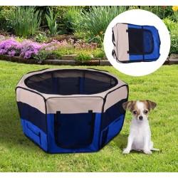 Parque Mascotas Azul y Beige Tejido Oxford 114x114x...