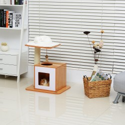 Mueble para Gatos Madera Felpa Sisal 54x44x63cm...