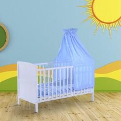 Cuna para Bebe Madera Azul 140x70x147cm...