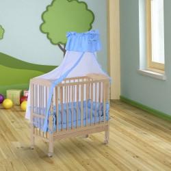 Cuna para Bebe Madera Azul 90x54x140cm...