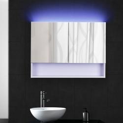 Espejo de Baño Vidrio Blanco 60x80x15cm...