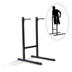 Estación Dip de Musculación Negro Acero Hasta 120kg...